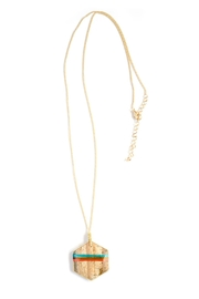 Tselaine Long Threaded Pendant - Front full body