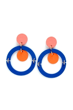 Shoptiques Product: Painted Hoop Earrings
