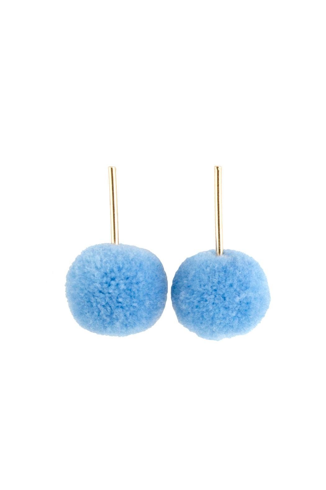Tselaine Pom Pom Earrings - Front Cropped Image