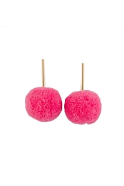 Tselaine Pom Pom Earrings - Front cropped