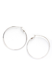 Tselaine Simple Hoops - Front cropped