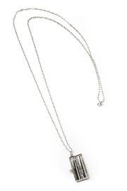 Tselaine Sterling Locket Necklace - Front full body