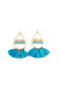 Shoptiques Product: Teardrop Tassel Earring