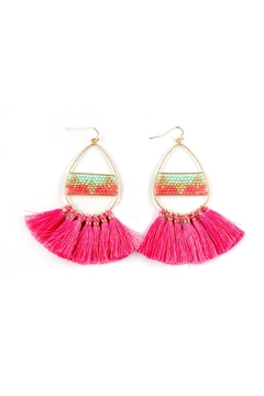 Shoptiques Product: Teardrop Tassell Earring