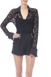 tu-anh boutique Black Lace Bodysuit - Product Mini Image