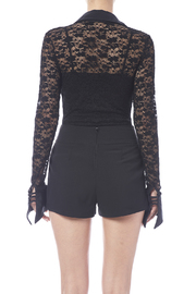 tu-anh boutique Black Lace Bodysuit - Back cropped