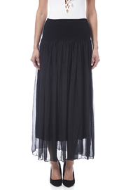 tu-anh boutique Black Silk Maxi Skirt - Side cropped
