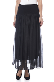tu-anh boutique Black Silk Maxi Skirt - Product Mini Image