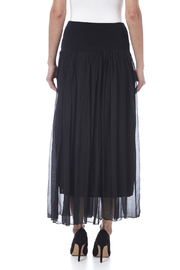 tu-anh boutique Black Silk Maxi Skirt - Back cropped