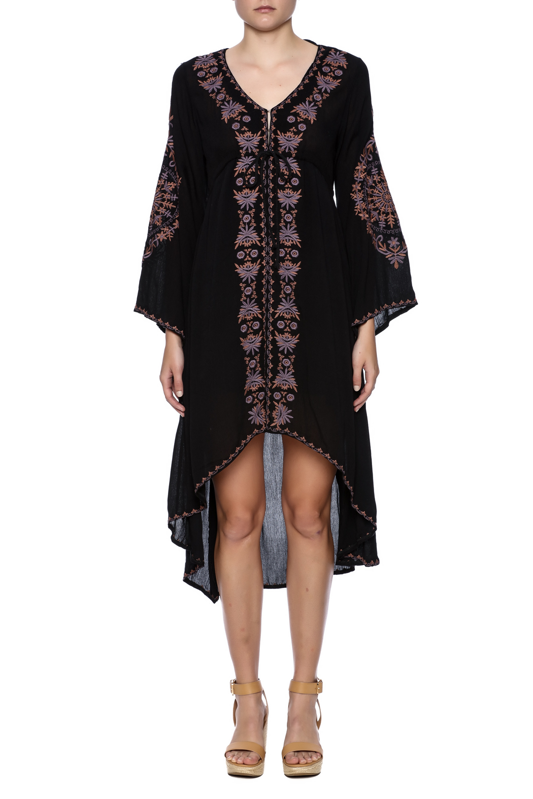 tu-anh boutique Bohemian Goddess Dress - Front Cropped Image