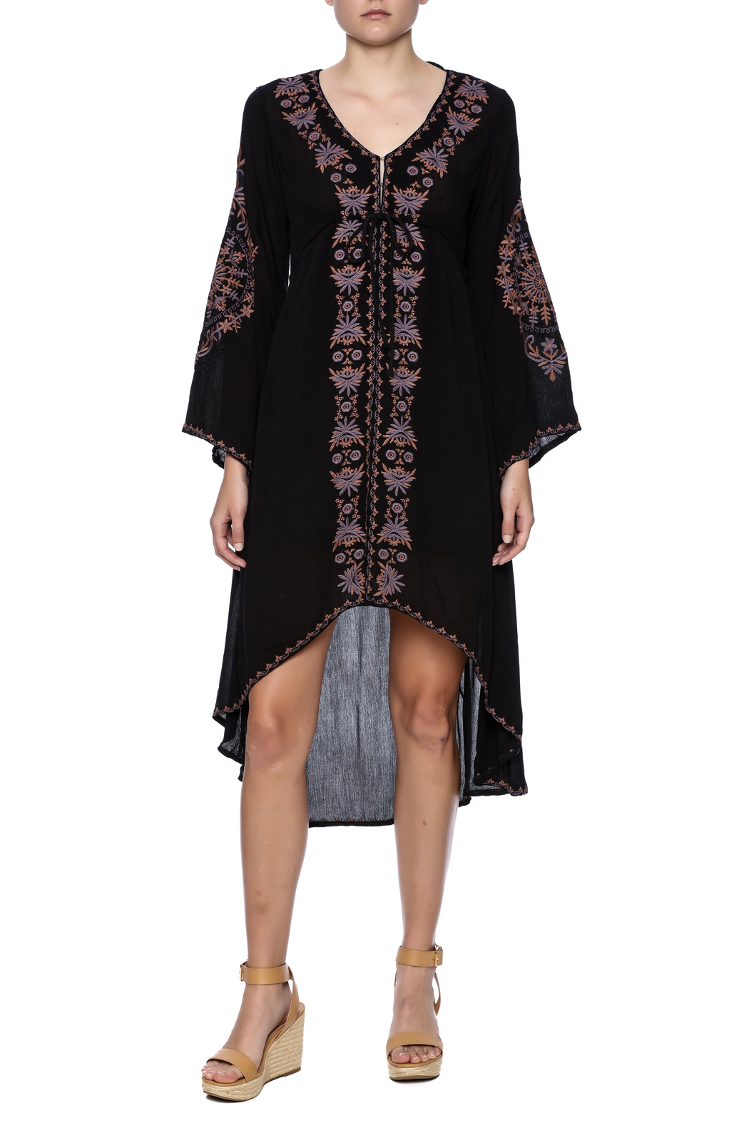 tu-anh boutique Bohemian Goddess Dress - Front Full Image
