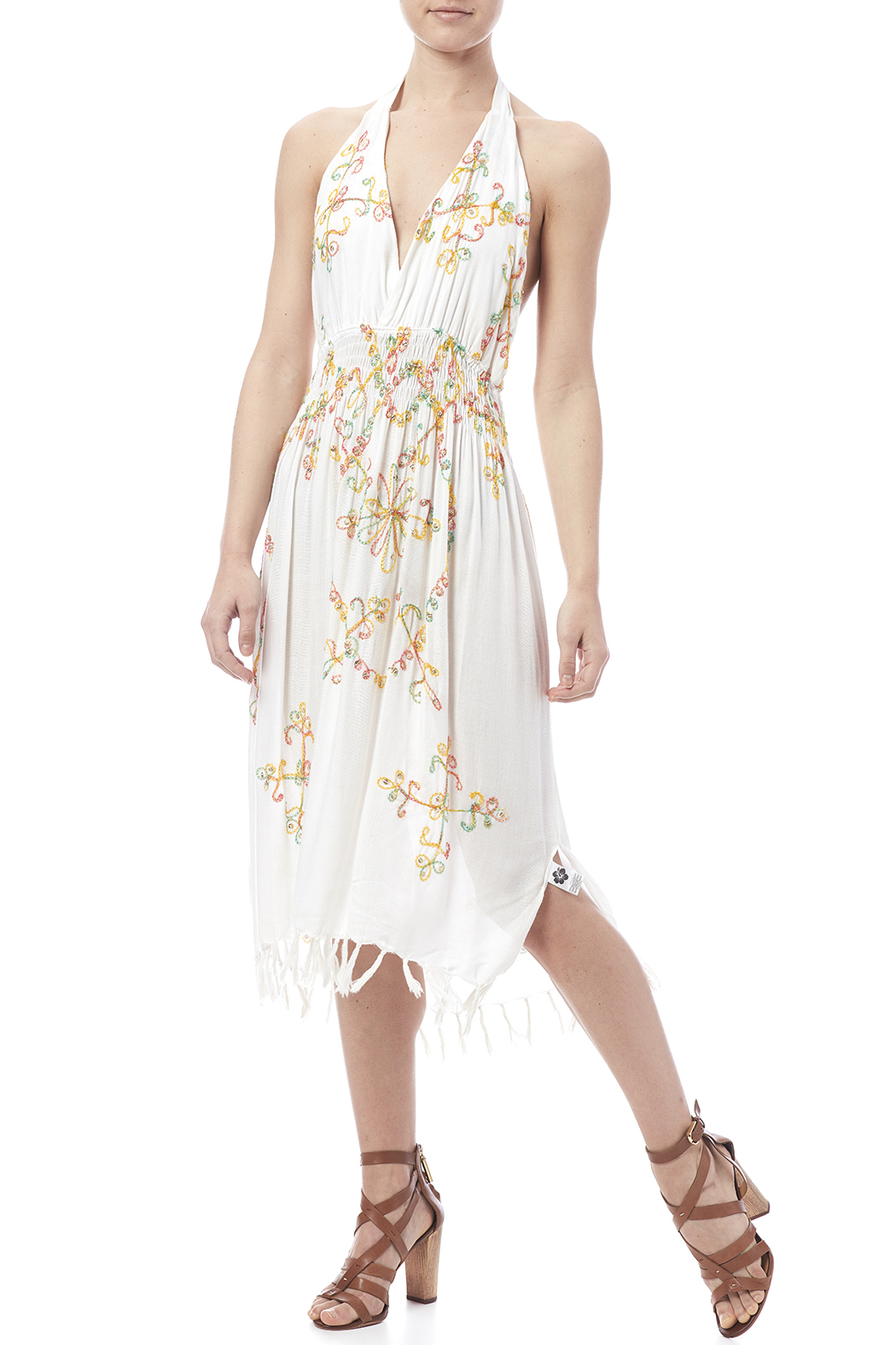 tu-anh boutique Halter Embroidery Dress - Main Image