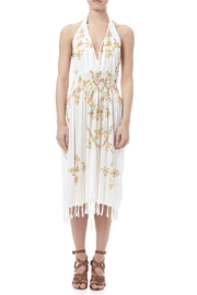 tu-anh boutique Halter Embroidery Dress - Front cropped