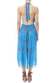 tu-anh boutique Halter Embroidery Dress - Back cropped
