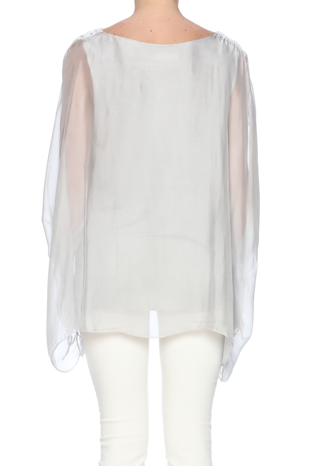 tu-anh boutique Italian Silk Butterfly - Back Cropped Image