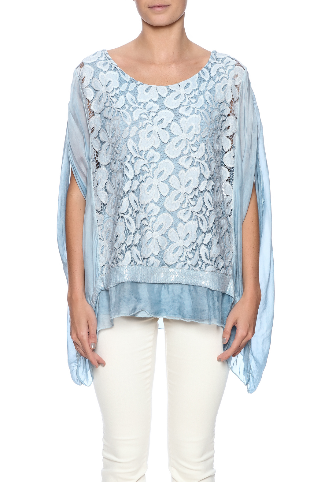 tu-anh boutique Italian Silk Butterfly - Side Cropped Image