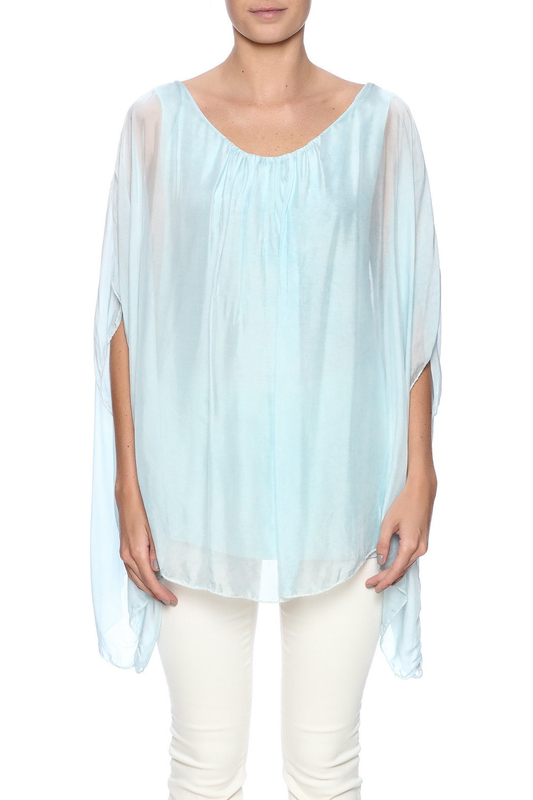 tu-anh boutique Italian Split Top - Side Cropped Image
