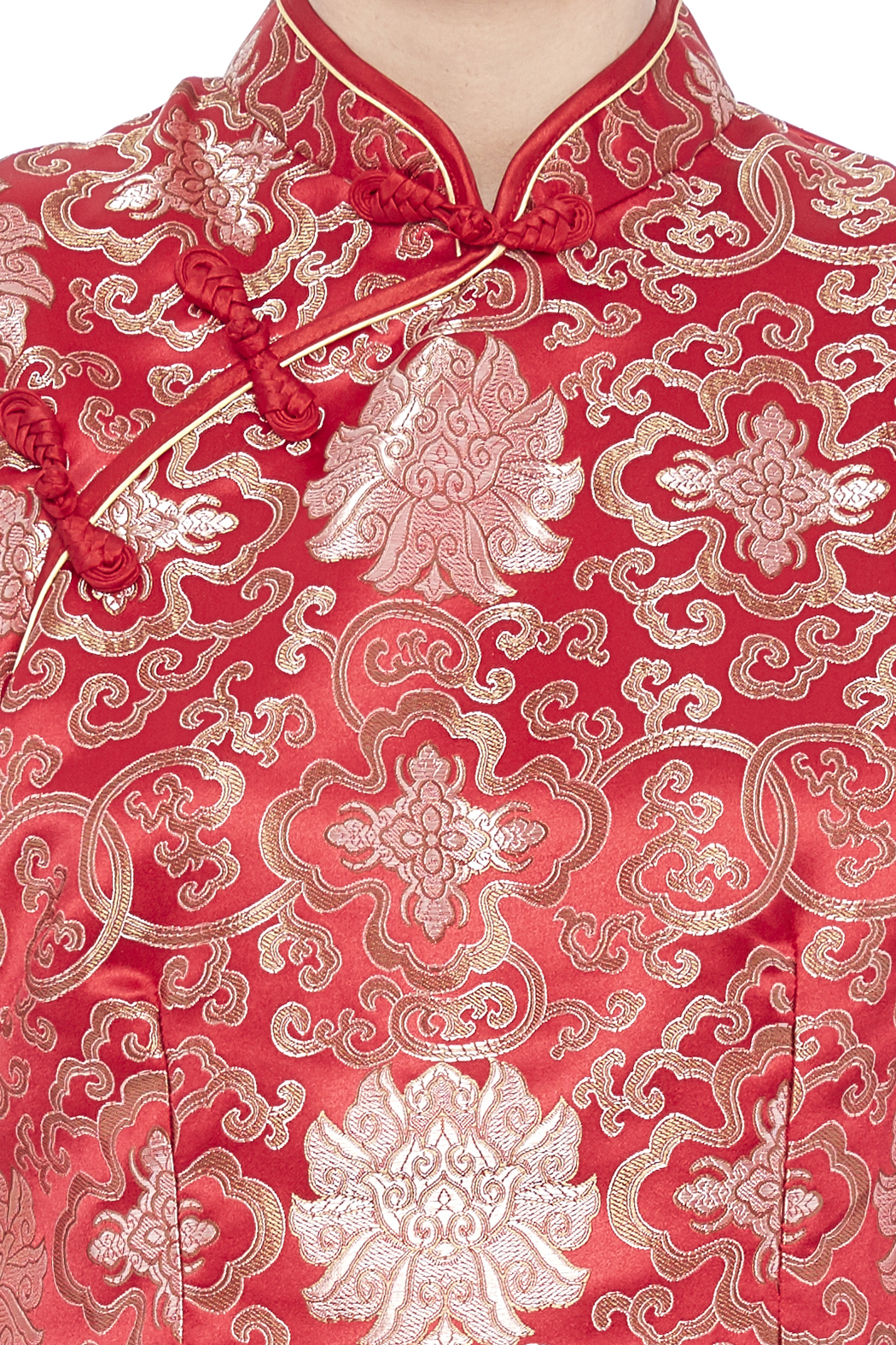 tu-anh boutique Red Cheong Sam - Side Cropped Image