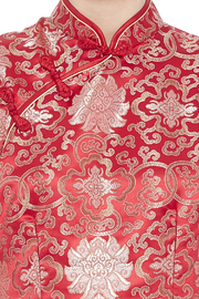 tu-anh boutique Red Cheong Sam - Side cropped