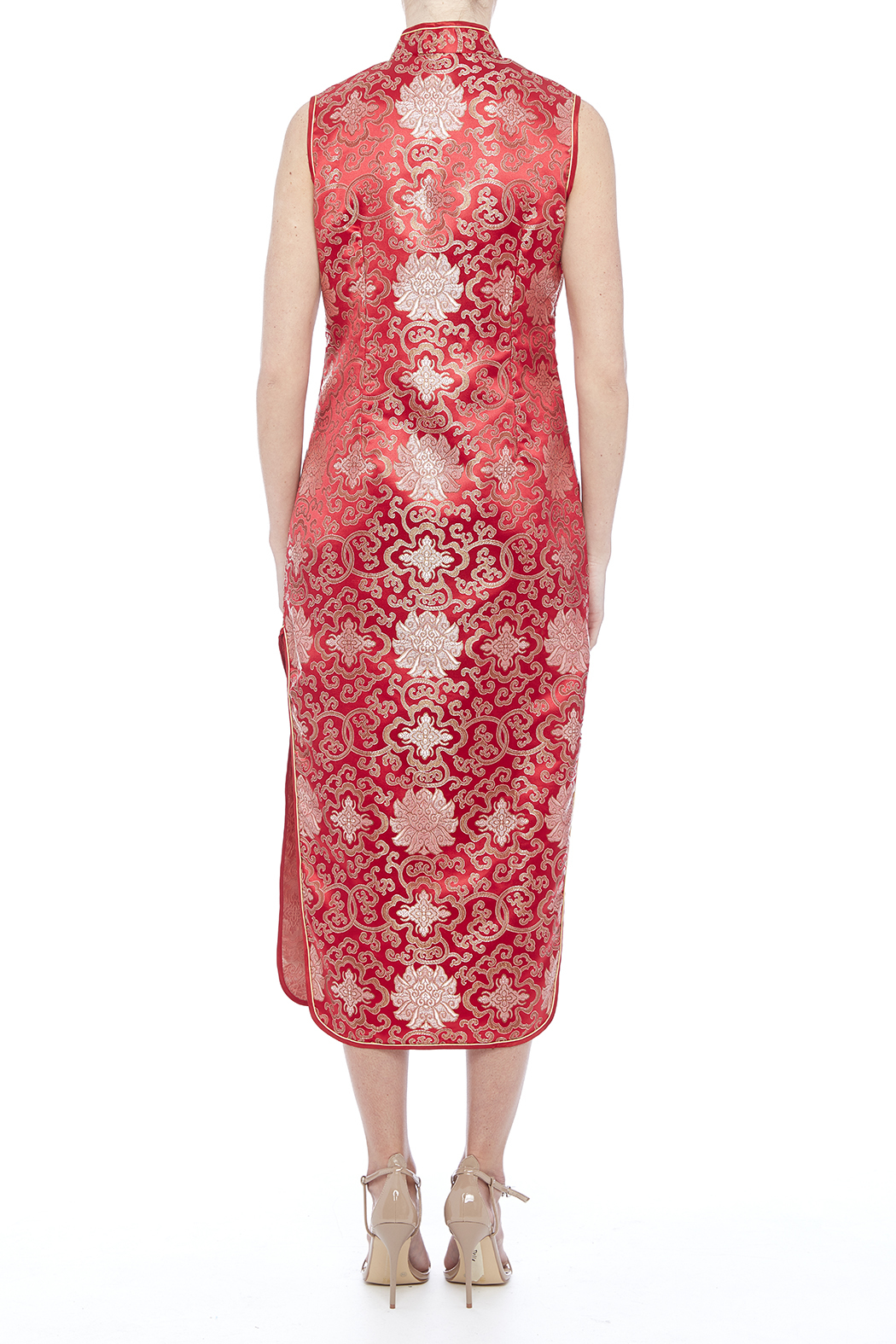 tu-anh boutique Red Cheong Sam - Back Cropped Image