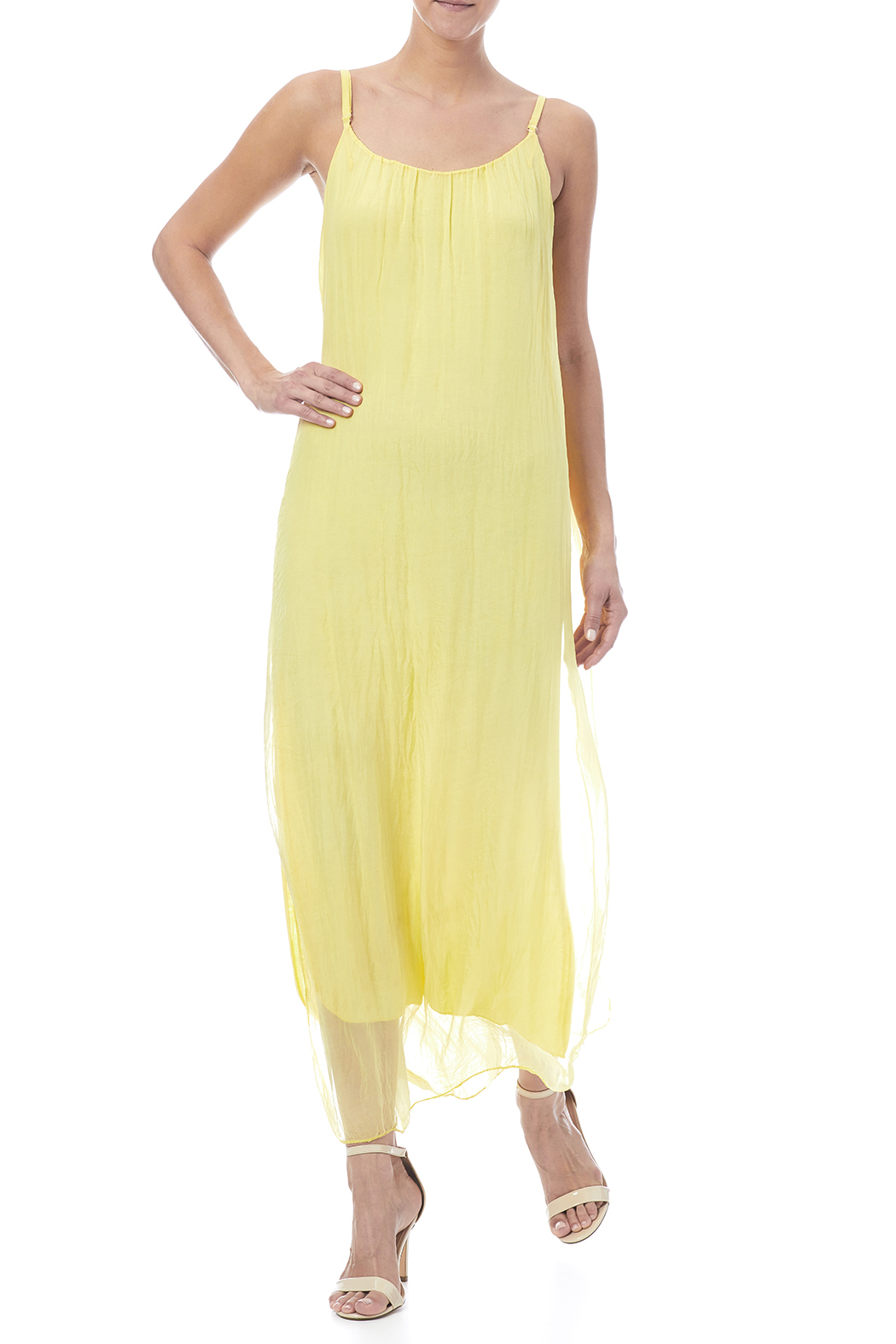 tu-anh boutique Silk Maxi Dress - Front Full Image