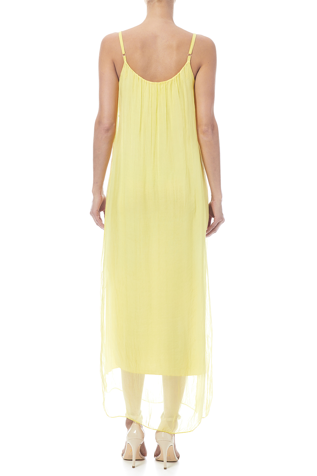 tu-anh boutique Silk Maxi Dress - Back Cropped Image
