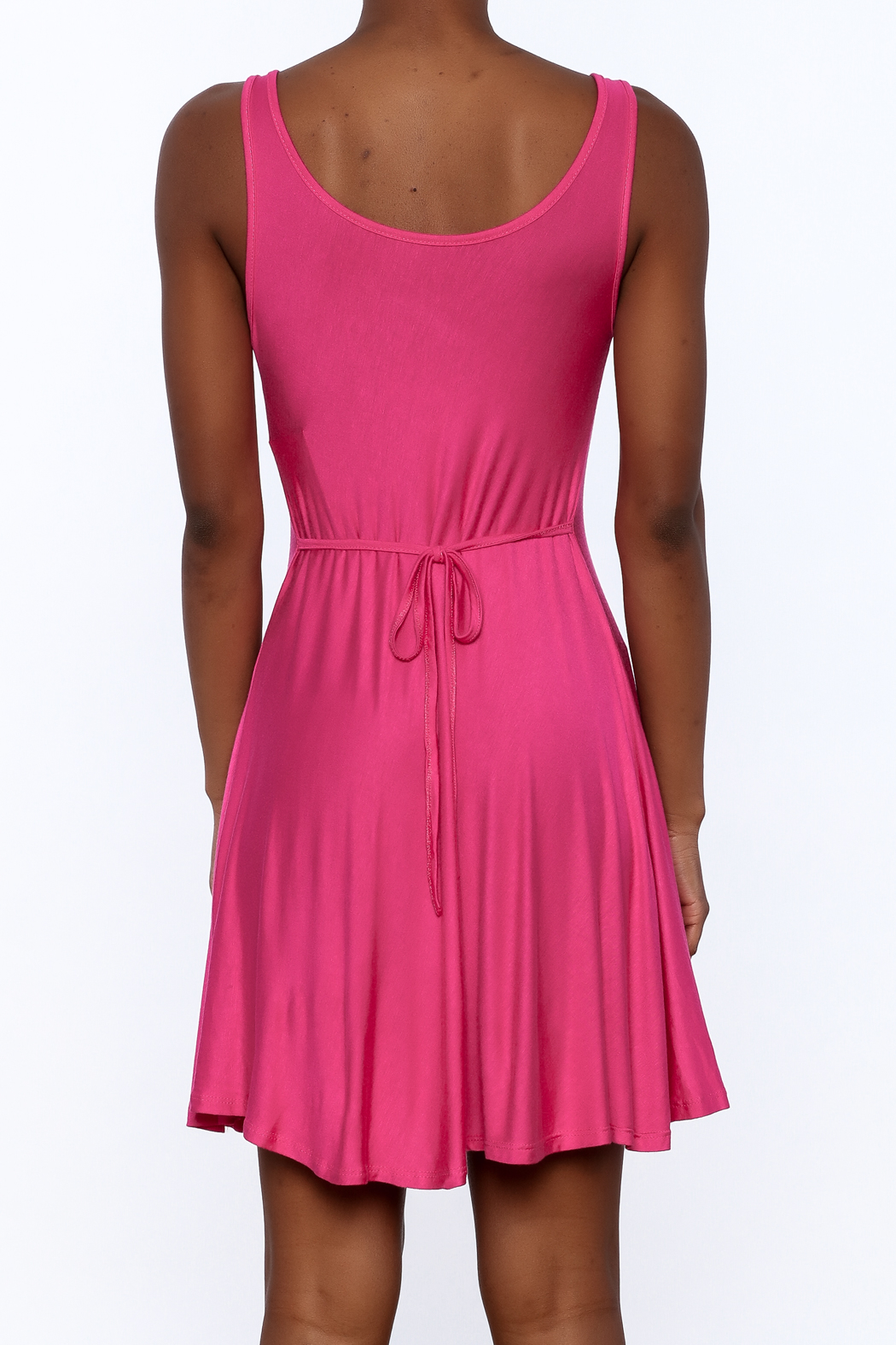tu-anh Soft Fitted Dress - Back Cropped Image