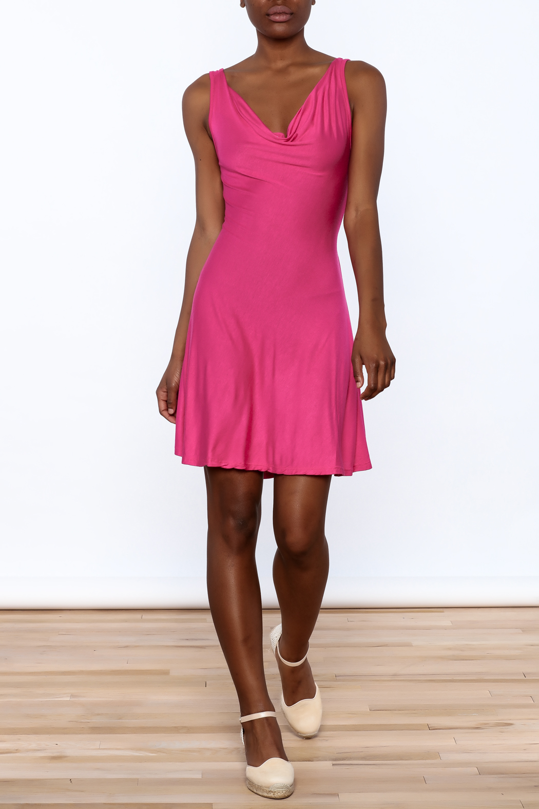 tu-anh Soft Fitted Dress - Front Full Image