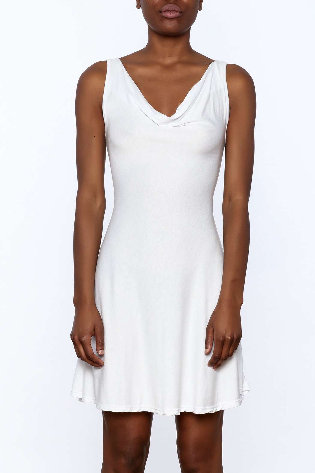 tu-anh Soft Fitted Dress - Side Cropped Image