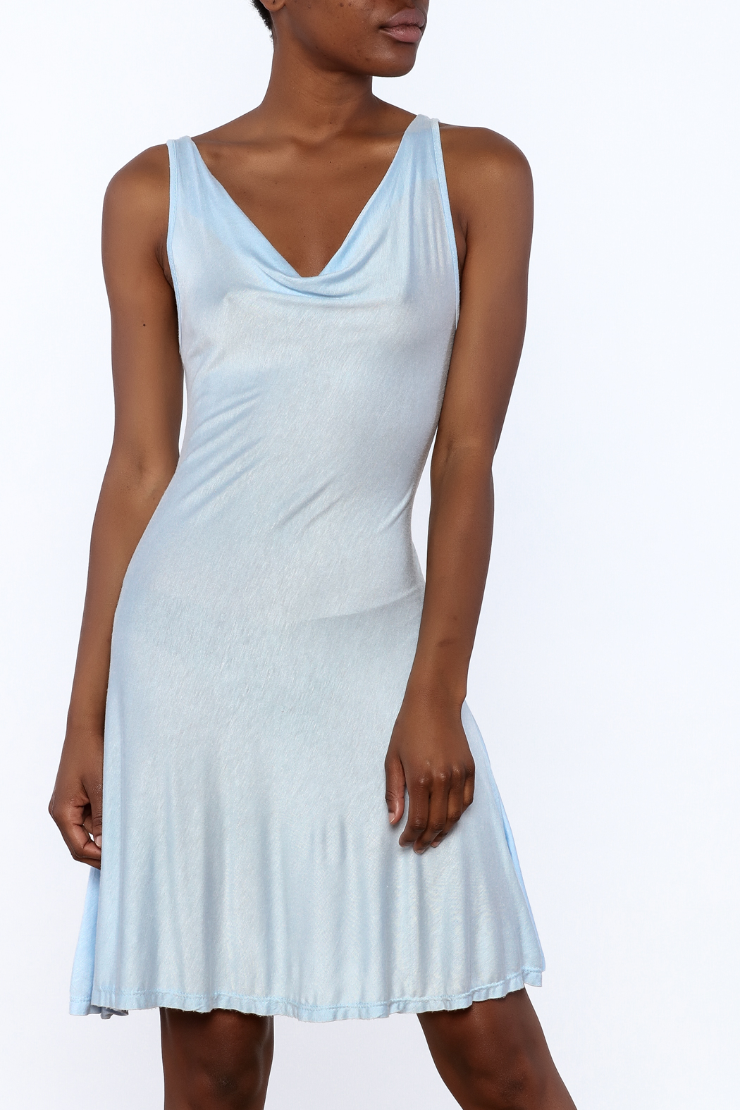 tu-anh Soft Fitted Dress - Front Cropped Image