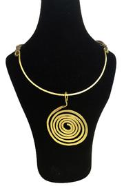 tu-anh Greek Spiral Necklace - Front full body