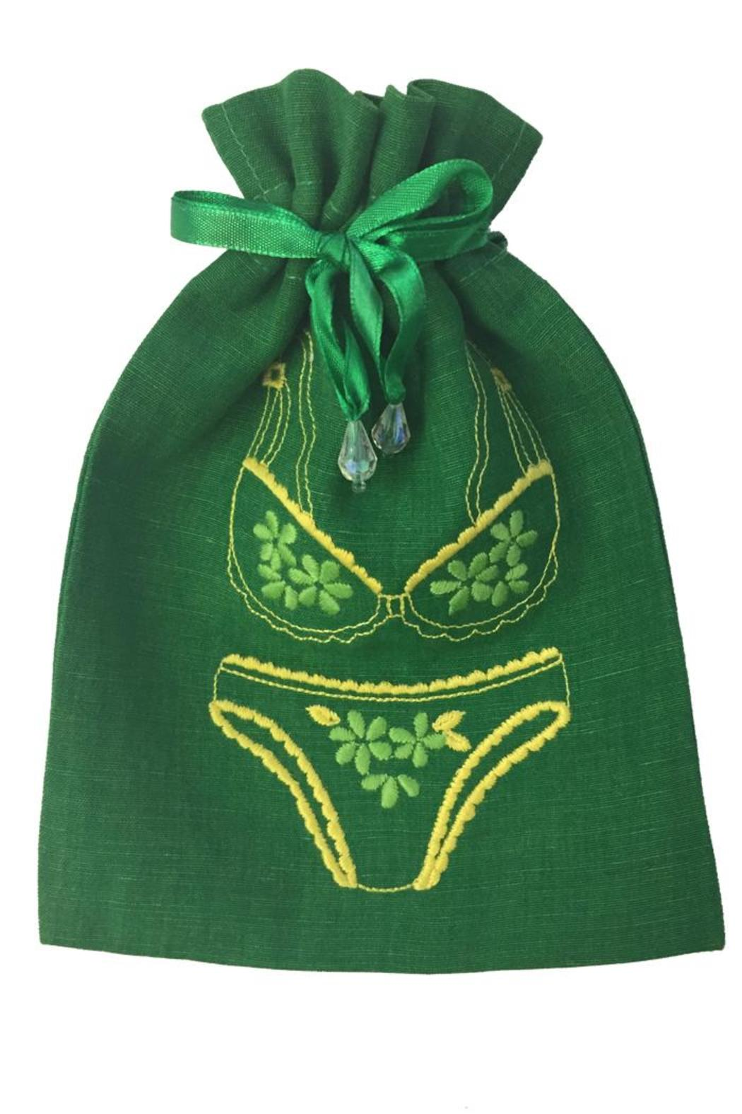 tu-anh Green Lingerie Pouch - Main Image