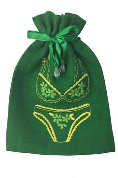 tu-anh Green Lingerie Pouch - Alternate List Image