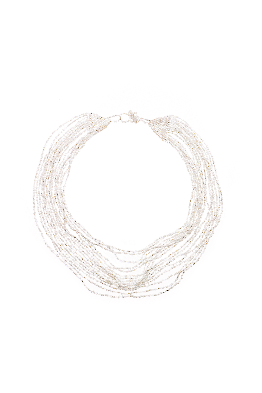 tu-anh Opaque White Glass Necklace - Main Image