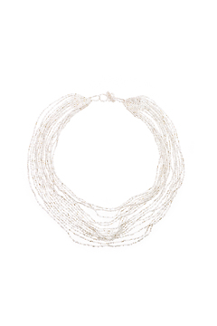 tu-anh Opaque White Glass Necklace - Product List Image