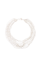 tu-anh Opaque White Glass Necklace - Product Mini Image