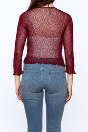 tu-anh Sheer Soft Cardigan - Back cropped