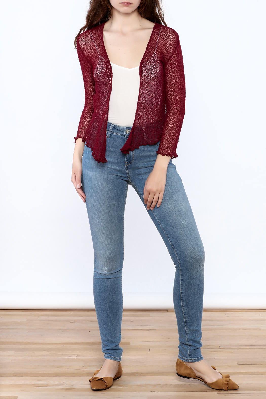 tu-anh Sheer Soft Cardigan - Front Full Image