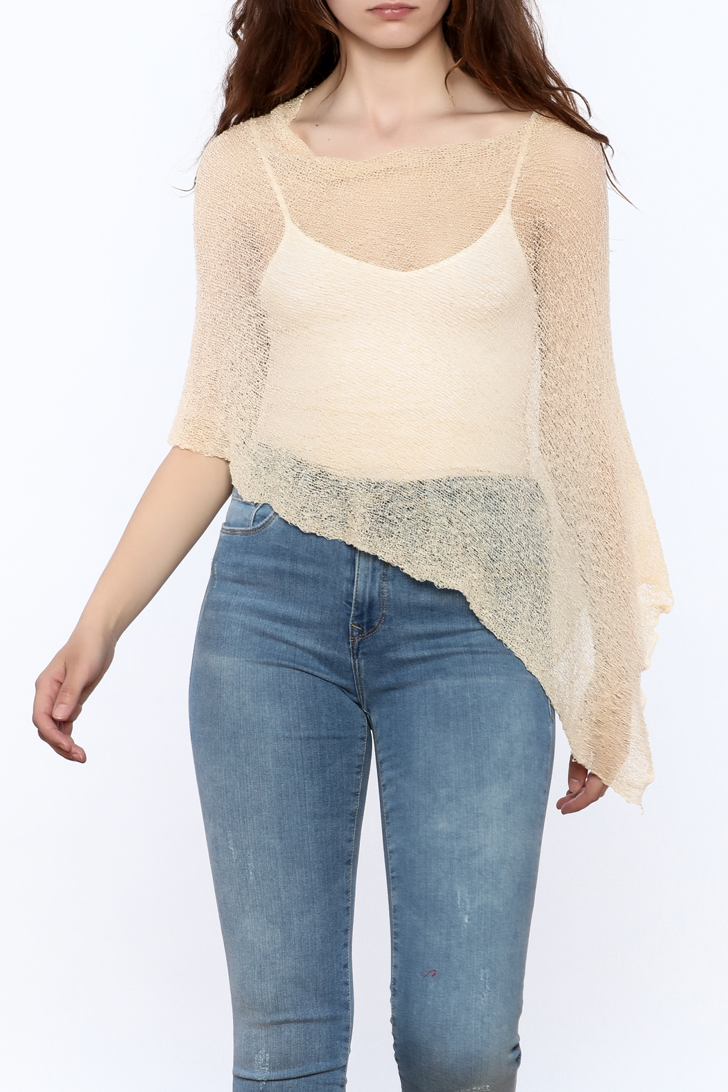 tu-anh Sheer Soft Poncho - Main Image