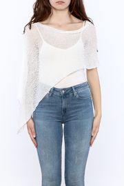 tu-anh Sheer Soft Poncho - Side cropped