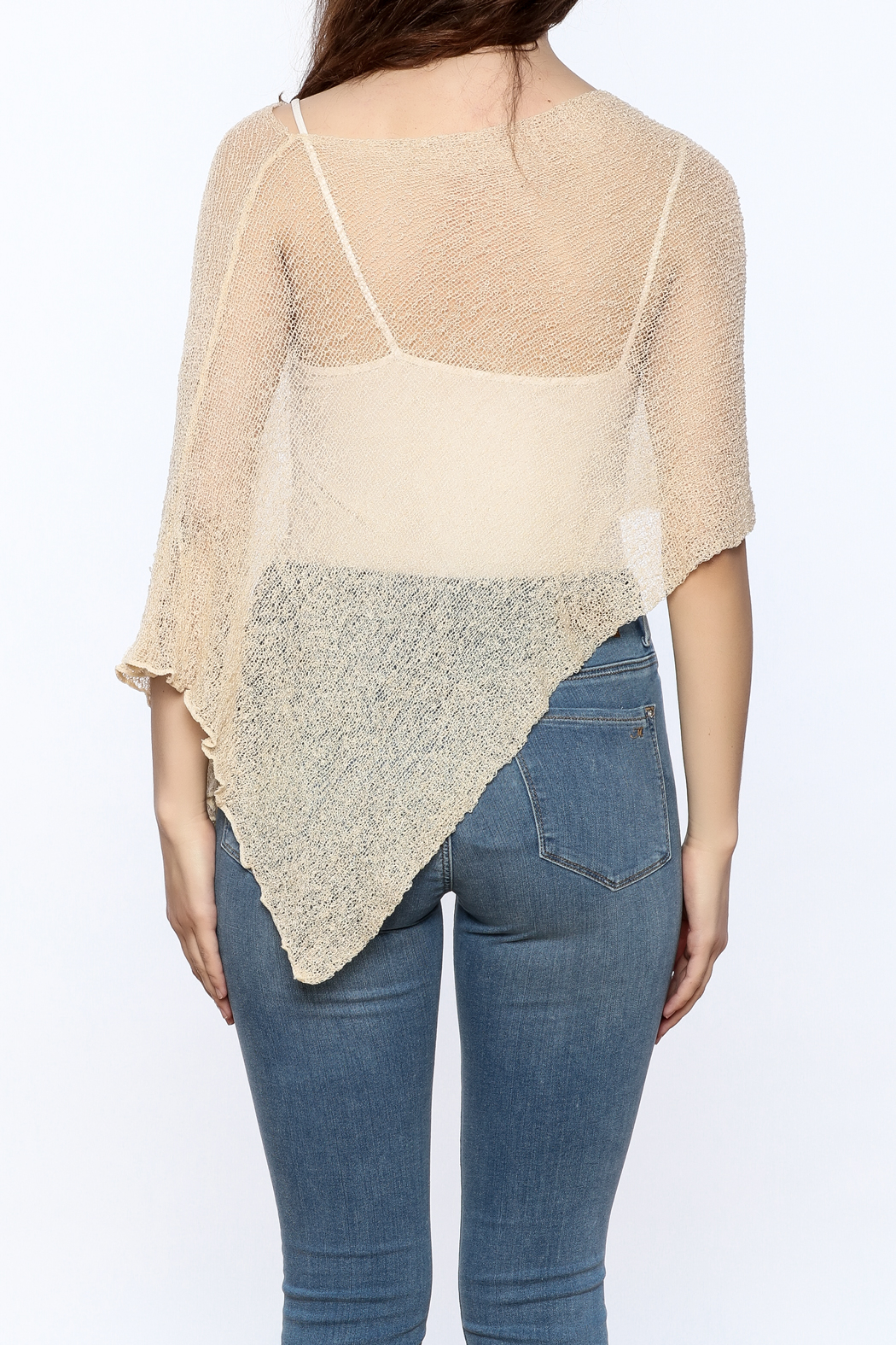 tu-anh Sheer Soft Poncho - Back Cropped Image
