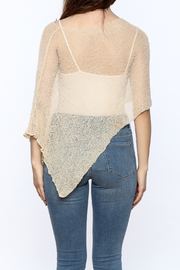 tu-anh Sheer Soft Poncho - Back cropped