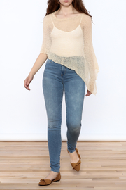 tu-anh Sheer Soft Poncho - Front full body