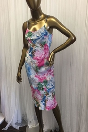 tu-anh Pink Floral Silk Shift - Product Mini Image