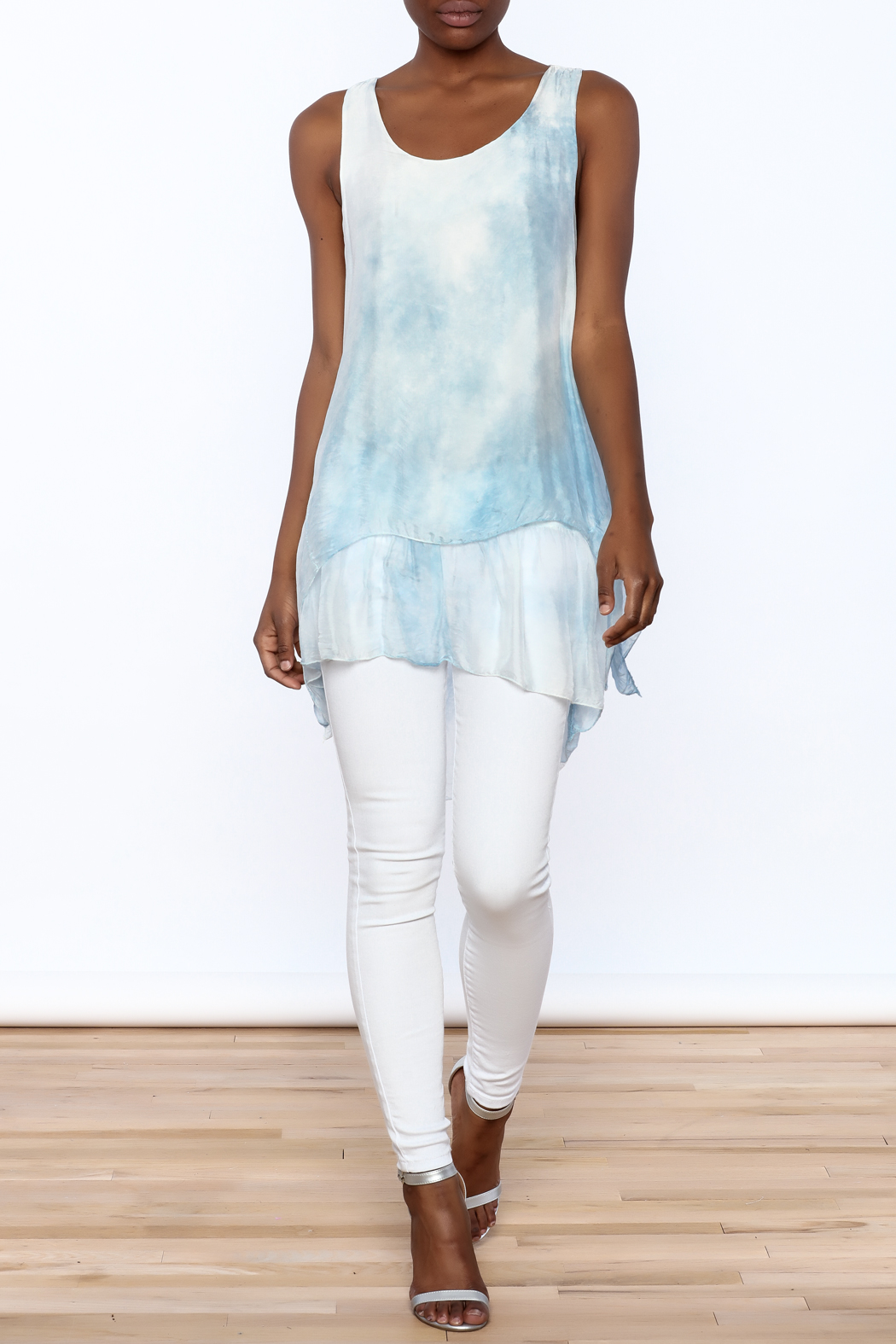 tu-anh Silk Breeze Tunic Dress - Front Full Image