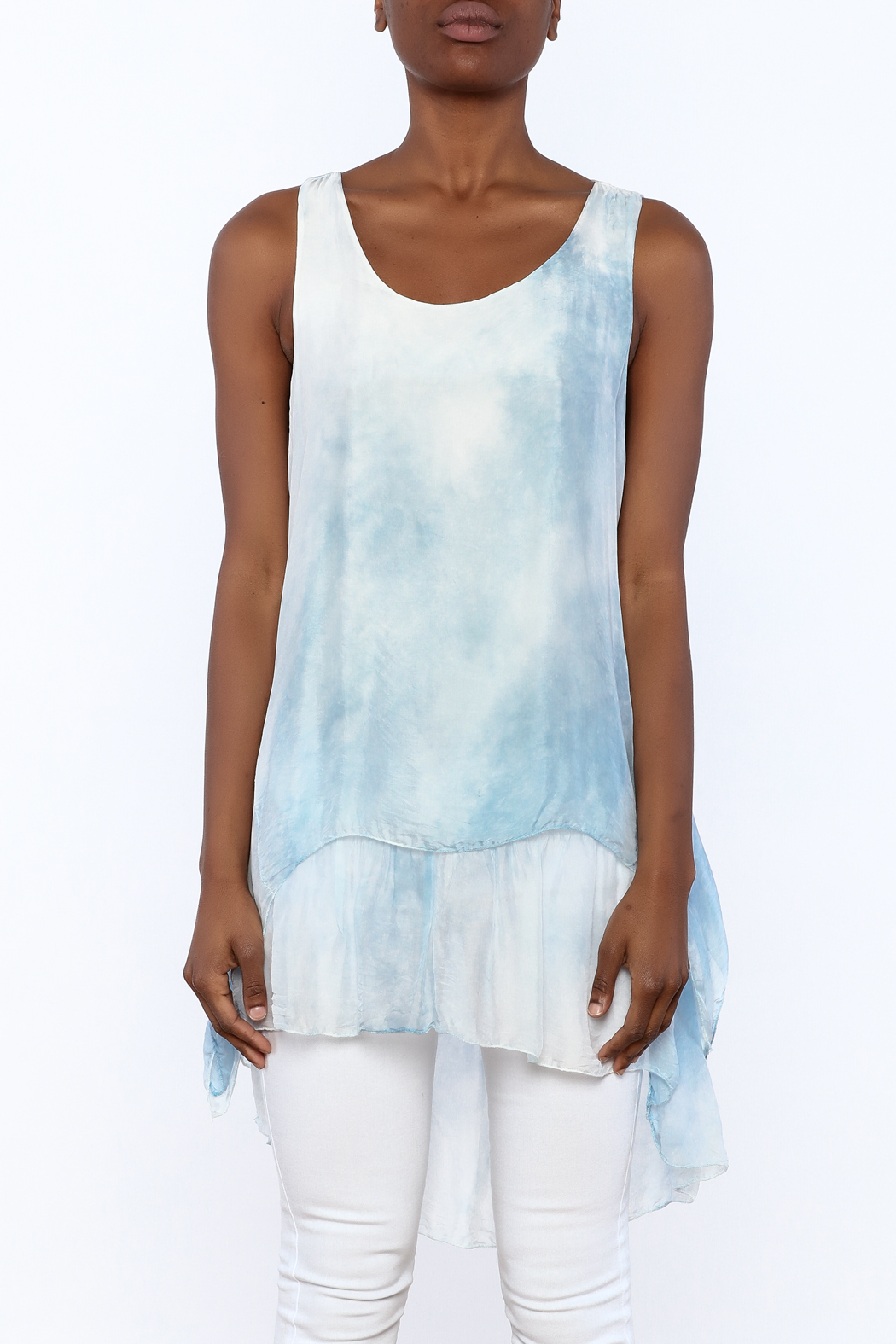 tu-anh Silk Breeze Tunic Dress - Side Cropped Image