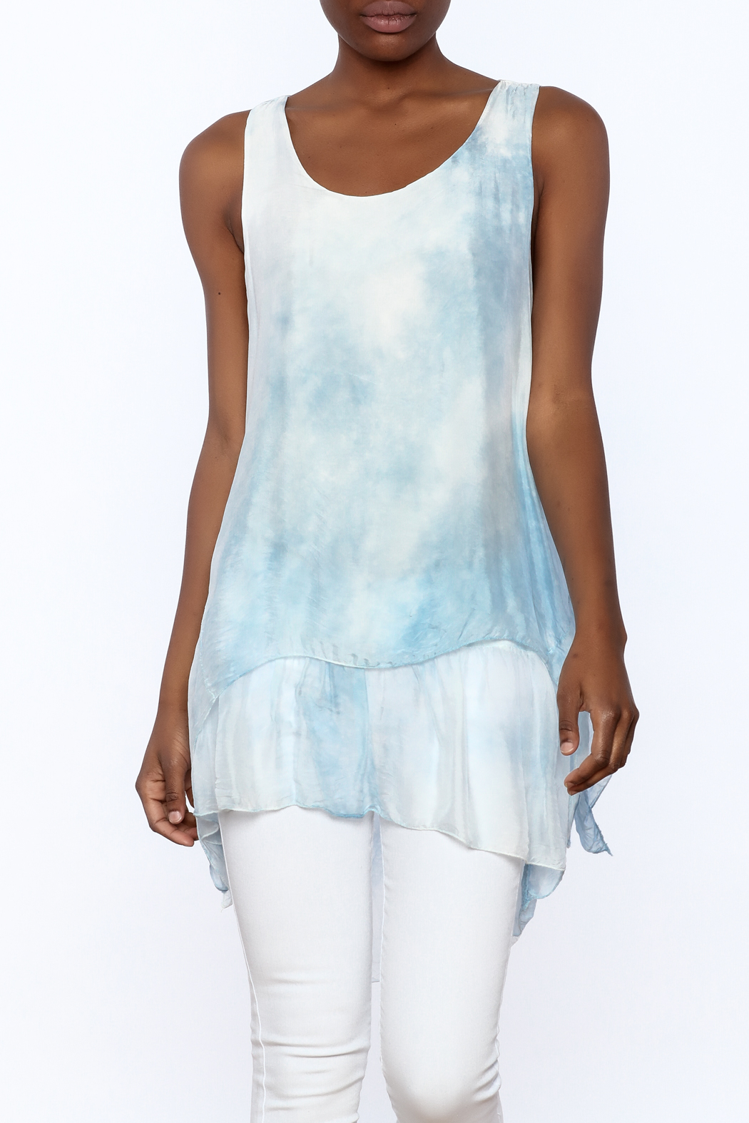 tu-anh Silk Breeze Tunic Dress - Front Cropped Image
