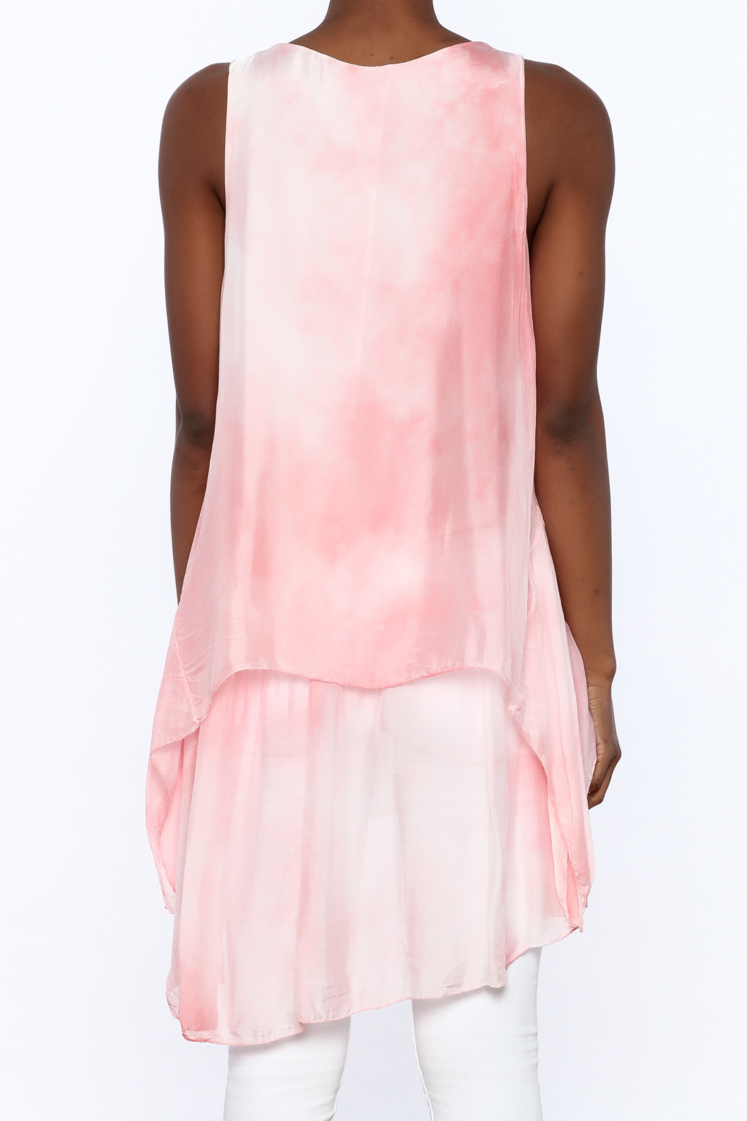 tu-anh Silk Breeze Tunic Dress - Back Cropped Image