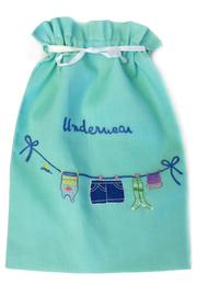 tu-anh Turquoise Lingerie Bag - Front cropped