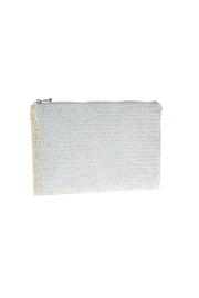 tu-anh White Signature Clutch - Front cropped